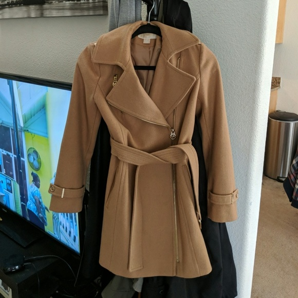 wide selection of colors official sale choose original Michael Kors Asymmetrical Belted Jacket